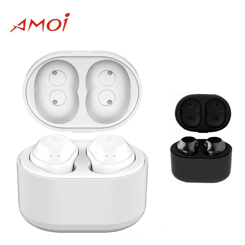 Amoi Bluetooth Wireless X6 Headset with Bluetooth V4.2 CVC noise reduction 5.2mm Speaker Unit Earphone for Galaxy S9 S9+ цена