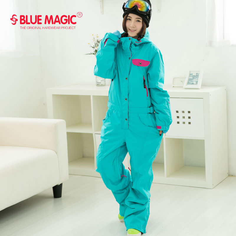 812f7b8f01e Blue magic new winter snowboard kombez ski jacket and pant ski suits  females jumpsuit women snowboard waterproof overall Russia-in Snowboarding  Sets from ...