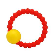 New candy color baby molar stick non-toxic bracelet soft silicone childrens rattles toy 3 colors suitable for 3-12 months