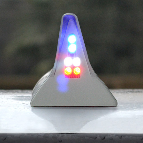 Higher star Shark fin car roof Solar energy led Anti-collision warning light,caution light,pileup-prevention Tailight vehemo vehemo 10 30v 4 led tail number license plate light lamp truck trailer waterproof