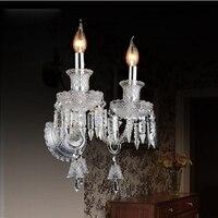 Kryształowe kinkiety ścienne nowoczesny styl nocna kinkiet sypialnia schody lampy lampa led lampa led domu nowoczesne przyczep kempingowych światła do czytania kryształ światła w Wewnętrzne kinkiety LED od Lampy i oświetlenie na
