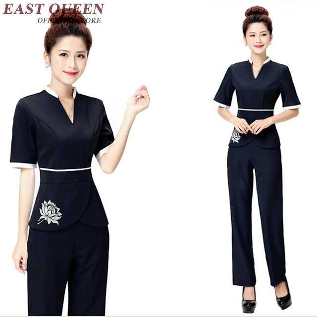 Spa uniform uniform for beauty salon medical uniforms v for Spa uniform alibaba