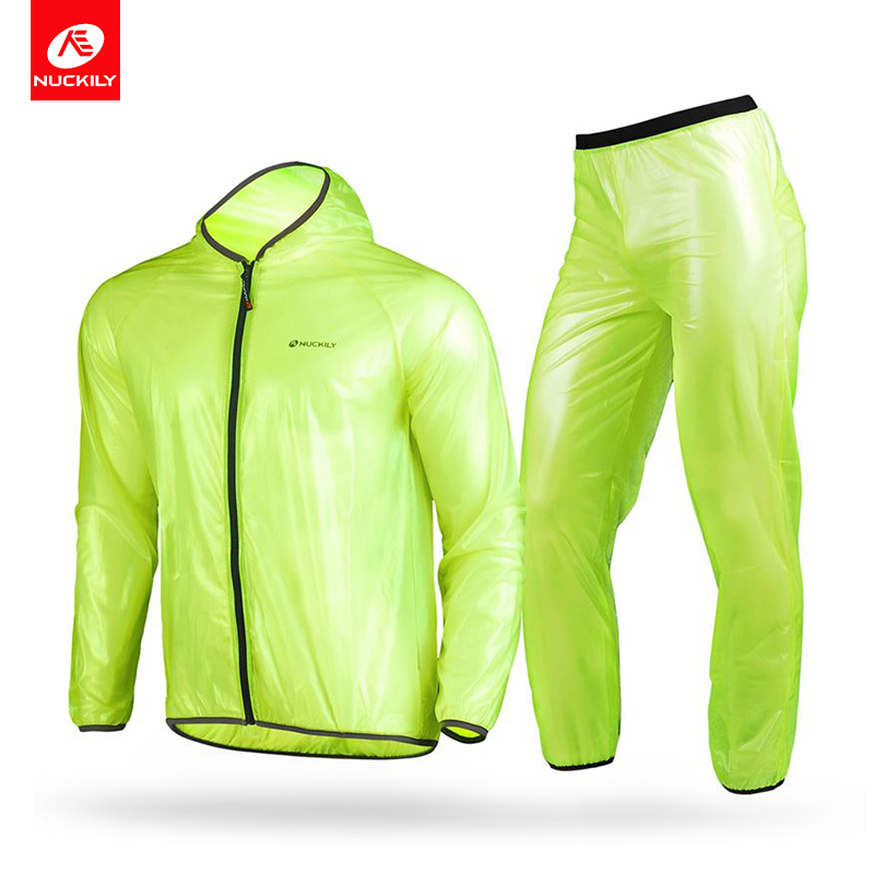 NUCKILY Rain Pants Windproof Cycling Set 5 Colors Outdoor Sports Bike Trousers Running Waterproof Rain Clothing MP003 in Cycling Pants from Sports Entertainment