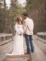 Maternidade branco fotografia adereços fotografia dress chiffon grávidas vestidos de maternidade roupa gravidez para a fotografia prós
