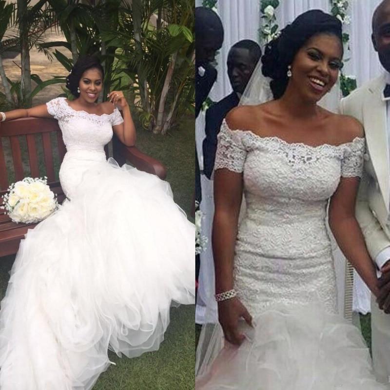 Nigerian Wedding Gowns: South African Nigerian 2017 Long Full Lace Mermaid Wedding
