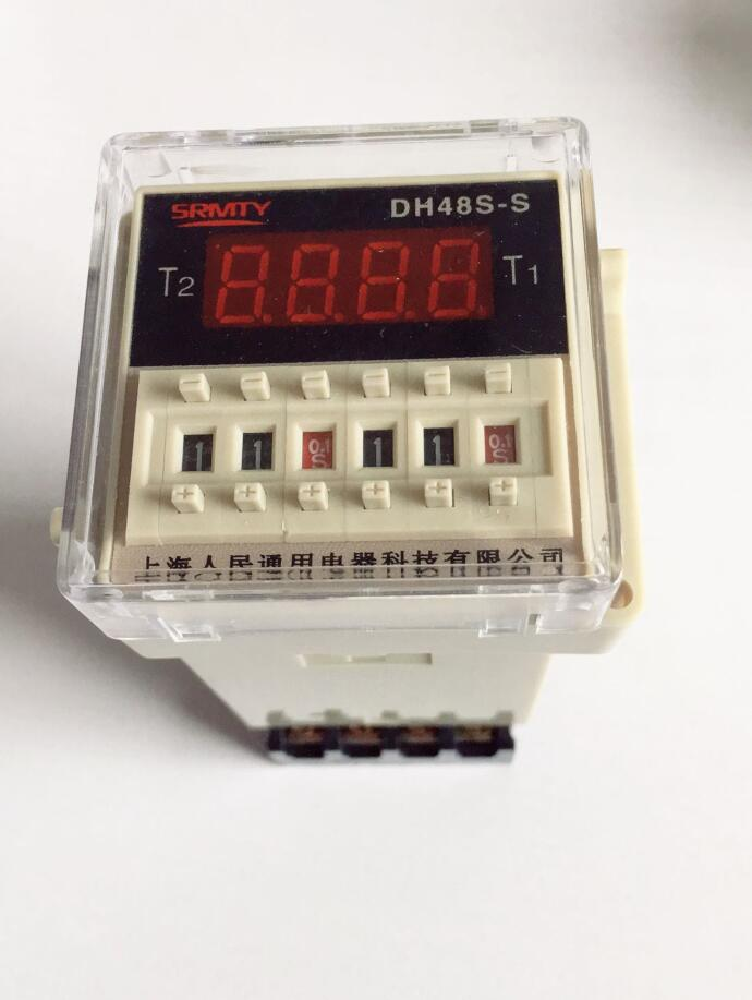 Digital display time relay DH48S DH48S-S cycle control relay 0.1S-99H 8PIN with base DC12V/24V/36V/AC110V/220V/380V ce dh48s s digital timer time delay relay 220v dc 0 1s 99h 8 pins with base socket