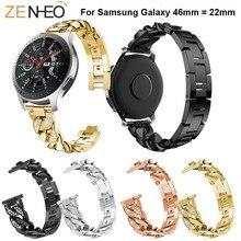 Luxury Metal Strap 46mm wristband For Samsung Galaxy Watch Bracelet fashion watchband watch Bands 22mm Straps