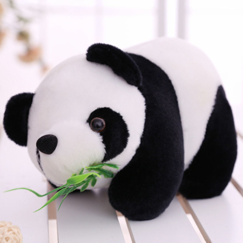 Children's toy 16cm Lovely Cute Stuffed Kid Animal Soft Plush Panda with bamboo kids Present Doll Toy Birthday Christmas gift wholesale 100pcs cute panda doll plush toys bag purse keychain pendant birthday christmas wedding party small gift triver toy
