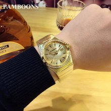 Luxury Gold Watch AR2018 Fashion Lovers Men Women AUTO Watches Rose Gold Stainless Steel Band Relogio Feminino Dress Clock
