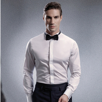 Men's High Quality Solid Color Long Sleeve Shirts Regular Fit Dress Shirt Romantic Wedding Groom Special Suit Shirt for Men