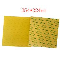 2pcs Imported 254x224mm PEI Sheets Polyetherimide Sheet Pre Applied W 3M Adhesive Tape For Prusa I3