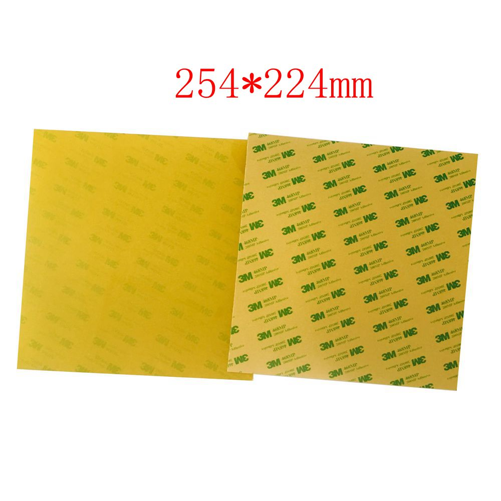 2pcs Imported 254x224mm PEI Sheets Polyetherimide Sheet Pre-applied w/ 3M Adhesive Tape for Prusa i3 MK2 MK2S 3D Printer funssor replacement pei sheet ultem with 200mp adhesive tape for reprap prusa i3 mk2 rework and other size 3d printer