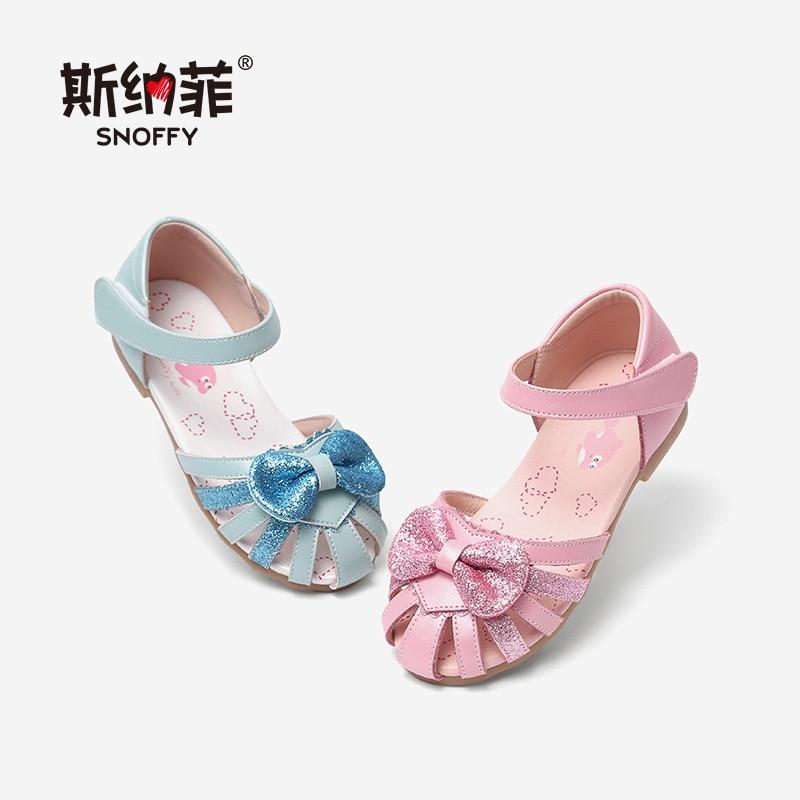 65f3f3f1b9dd8 2018 Nouvelle Mode D été Bébé Filles Sandales Arc Doux Enfants appartements  Princesse Chaussures Fermer