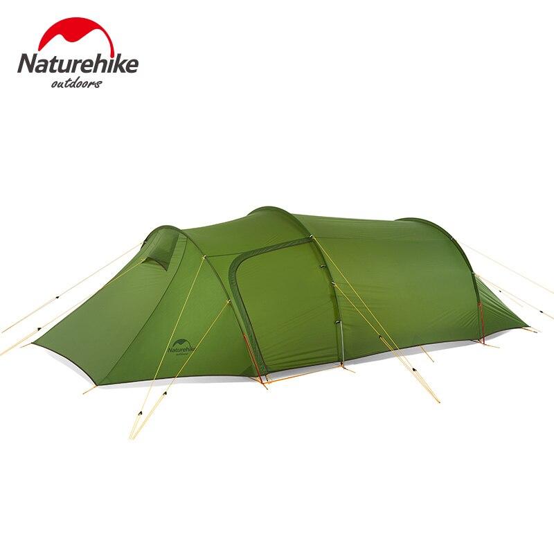 Naturehike 2018 Новый сверхлегкий Opalus туннель палатка открытый семьи туристический отдых 3 человек большой палатка