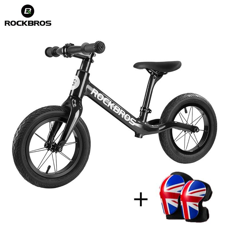 ROCKBROS 12 ''углеродного волокна слайд велосипед ребенка баланс подсветка для велосипеда коррозионностойким дети Велоспорт велосипед для 2 до 6 ...