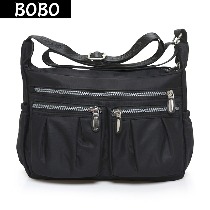 2016 New High Quality waterproof Nylon Shoulder Bag women Casual messenger bags women handbag cross body bag bolsas wholesale 2016 autumn and winter new casual waterproof nylon shell bag soft bag portable women shouid bags dd5023