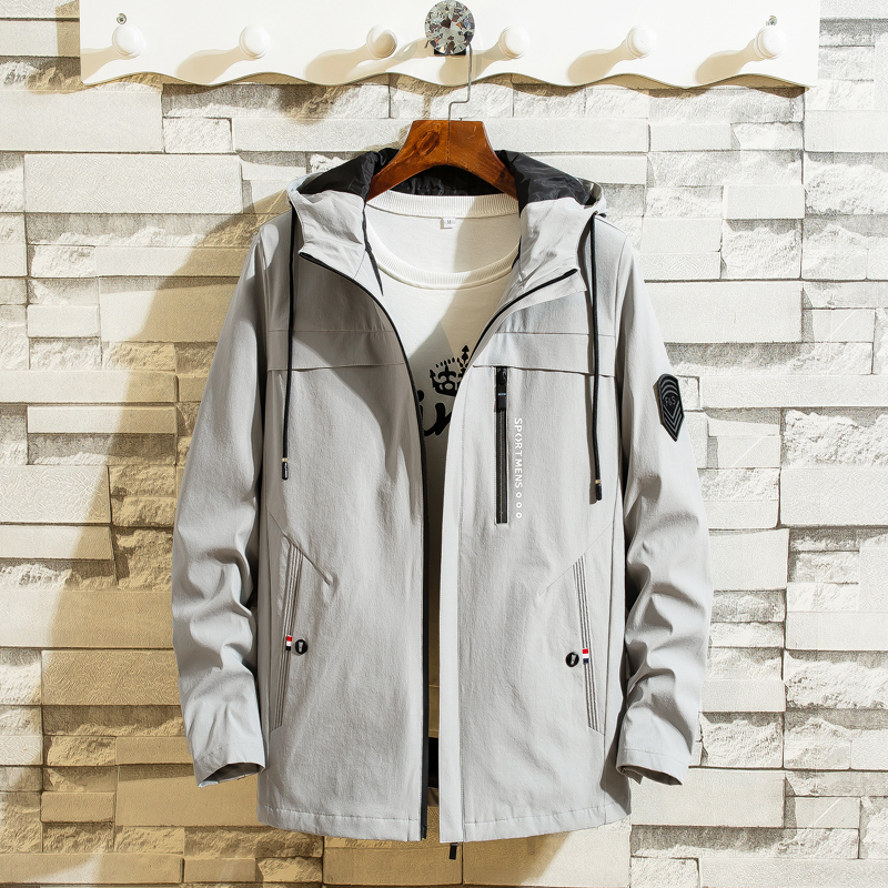 2019 Jacket men autumn winter hooded Korean fashion casual streetwear homme clothings ourterwear plus size M-4XL brand jackets 47