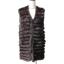 Harppihop натуральный кроличий мех, вязаные жилеты, новинка, шесть цветов, хорошее качество, женский мех Рекс, куртки, подтяжки, без рукавов, меховой жилет