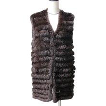 Harppihop 2019 tự nhiên thỏ lông dệt kim áo ghi lê new sáu màu sắc chất lượng tốt lady Rex áo khoác lông thú underwaist không tay lông vest