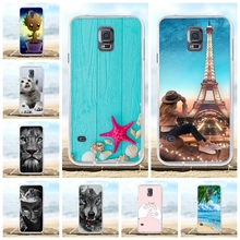 For Samsung Galaxy S5 Case Soft TPU Silicone G900F G900I Cover Flowers Patterned Shell Bag