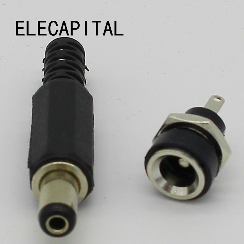 2.1x5.5mm DC Power Female Plug Jack 5pcs + Male Plug Jack Connector Socket Adapter 5pcs люстра escada flora 482 5pl