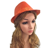 1pcs LED Hat Party Optic Cap Led Luminous Fedora Hat Fashion Party Decor