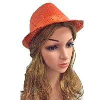 1pcs LED Hat Party Optic Cap Led Luminous Fedora Hat Fashion Party Decor