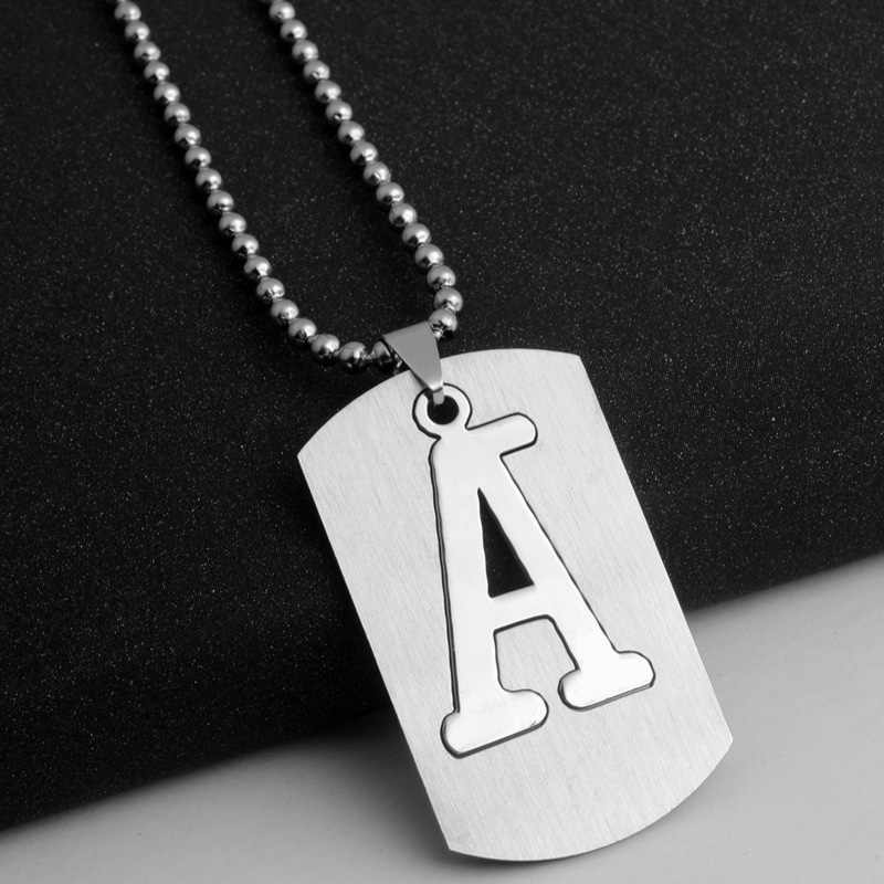 HC Fashion English Letter From A to Z Choker Necklace Boho Alphabet Initial Necklace Stainless Steel Chain & Pendant Necklace F