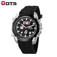 OTS Men S Watch LED Sports Digital Watch Clock 50M Waterproof Men Top Brand Luxury Hour