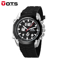 OTS Men S Watch LED Sports Digital Watch Clock 50M Waterproof Men Top Brand Luxury Hour