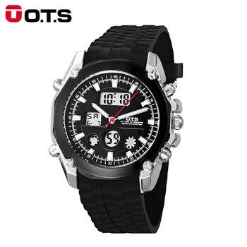 c0ac97e5daa9 OTS reloj de los hombres LED reloj deportivo digital Reloj 50 m impermeable  hombres Top marca de lujo horas Militar Relogio masculino
