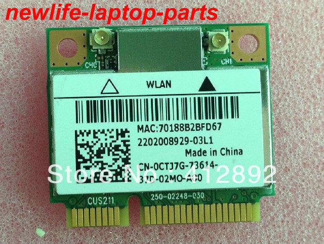 Cartão de laptop sem fio originais CTJ7G 0CTJ7G Wireless-N 1202 DA104328 4104A-AR5B22 PPD-AR5B22 250-02248-030 testado frete grátis grátis