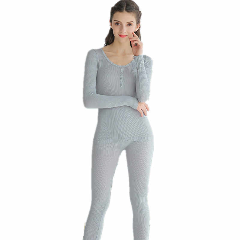 dd48f97190 2018 Long Johns For Women One Size Women Winter Thin Thermal Underwear Suit  Thick Modal Ladies