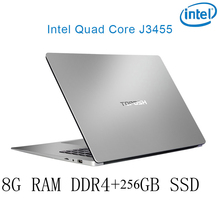 P2-20 8G RAM 256G SSD Intel Celeron J3455 Gaming laptop notebook computer keyboard and OS language available for choose
