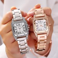 Fashion Rhinestone Diamond Women Bracelet Watch Top Luxury Brand Ladies Wrist Watches Silver Steel Female Clock Relogio Feminino