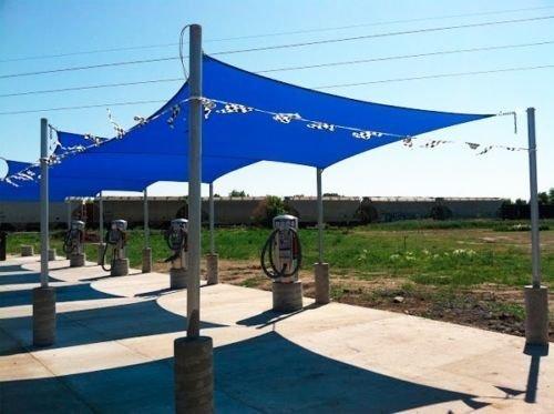 Square Sun Shade Sail Patio Deck Beach Garden Yard Outdoor Canopy Cover  Choose (13x13 Square, Blue)