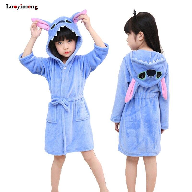 108a7b7aac Children S Bathrobe Kigurumi Baby Robes Pajamas Kids Dressing Gown ...