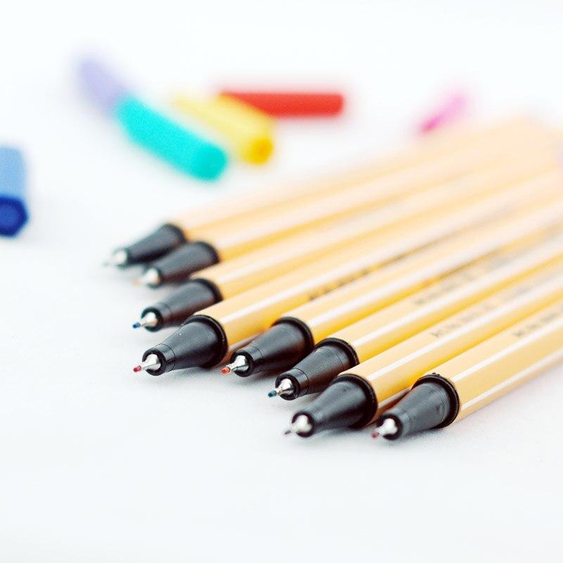 25 pièces/ensemble Fineliner fibre stylo Art marqueur 0.4mm feutre pointe esquisse Anime artiste Illustration technique dessin stylos