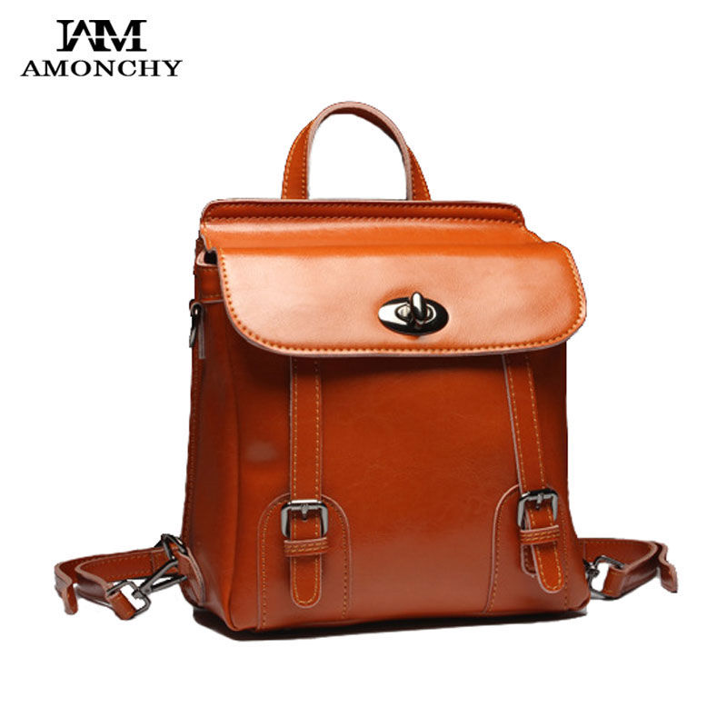 Genuine Leather Women's Backpacks Vintage Cow Leather Backpack Campus Bags Casual Travel Backpacks For Girls School Bag Mochilas women backpack genuine leather travel bag for teenagers girl s school bags high quality vintage embossing backpacks mochilas