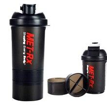 Nueva 500 ML Botella de Agua de $ number capas Con Estilo Portable de la salud Batido de Proteína En Polvo Mezclador de Bici/Al Aire Libre/Acampar Caldera