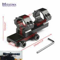 """MIZUGIWA Umfang Montieren 25,4mm 1 """"Ring Heavy Duty Cantilever Vorwärts Erreichen Adapter Flache Top 20mm Picatinny Schiene weaver Taschenlampe"""
