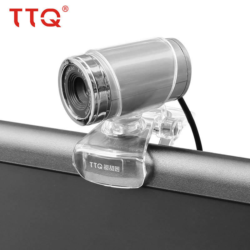 Купить с кэшбэком TTQ HD Webcam with Built in Microphone 360 Degree Web Camera Compatible for Laptop & Desktop USB 2.0