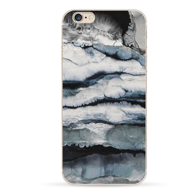 For iPhone 5 5s SE Painted TPU Case Stone Marble Glacier Brick Wall Realistic Printed Soft Silicon for iPhone 5 5s Cover SE