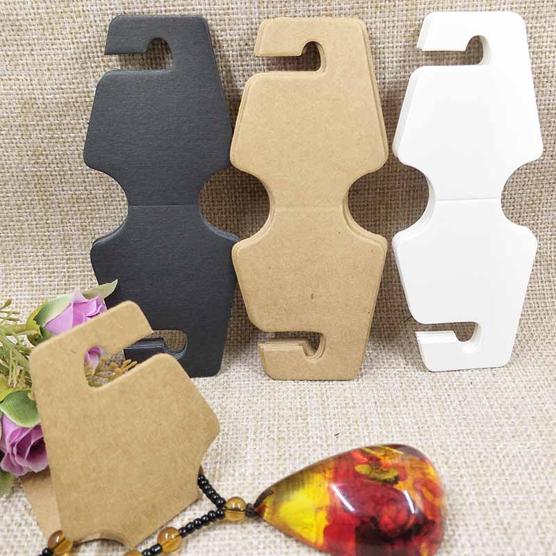 100 Pcs 2018 New Hot Black /Kraft /White Pendant Card  Necklace Card  Bracelet/Hair Band/Hair Clip Card 300gsm Paper Cardboard