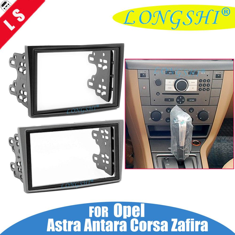 2 Din Voiture Radio Fascia Trim Kit pour 2006-2015 Opel Vectra Astra Zafira Stéréo Dash CD Cadre Panneau audio Couverture Montage Kit 2din