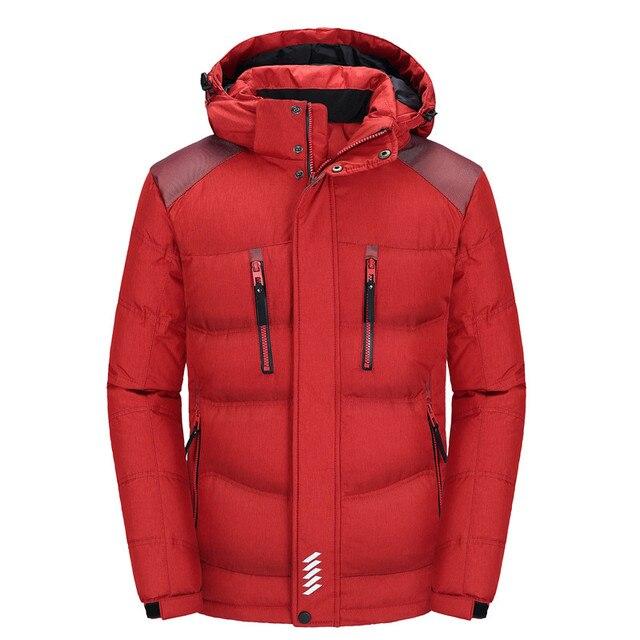 IN-YESON бренд мужской пуховик Мужская Верхняя одежда зимняя куртка новинка 2016 г. Модные мужские пальто высокого качества большой размер M-4XL