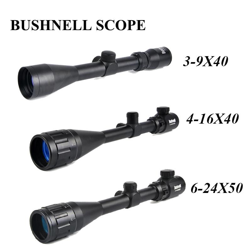 BUSHNELL 3-9x40 Caccia Scopes 4-16x40 Ottica Cannocchiali Da Puntamento 6-24x50 Tactical Mirino Sniper Scope Airsoft Pistole ad Aria