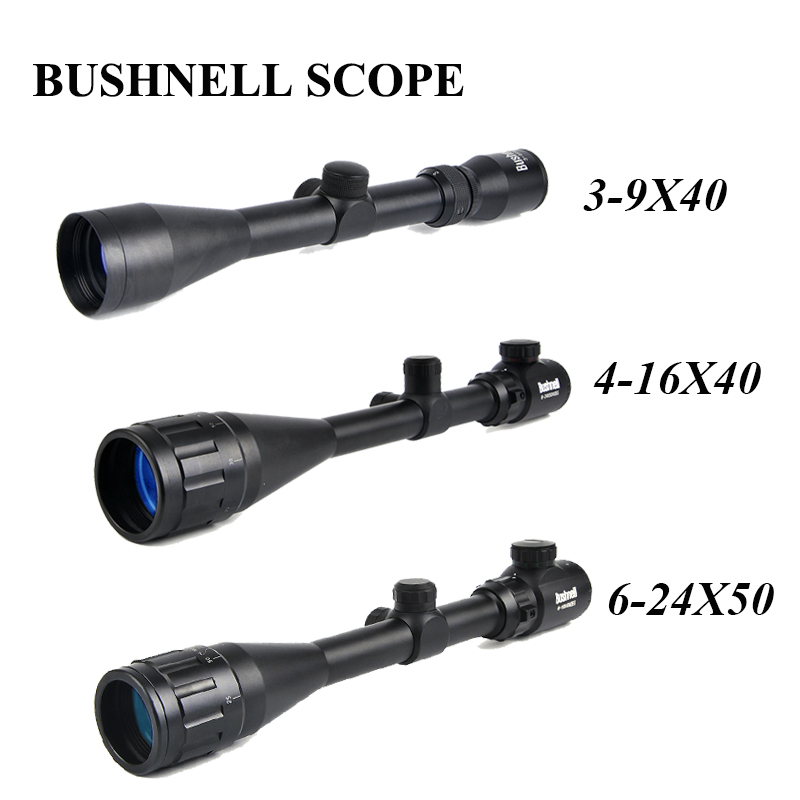 BUSHNELL 3-9x40 Hunting Scopes 4-16x40 Optics Rifle Scopes 6-24x50 Tactical Riflescope Sniper Scope Airsoft Air Guns бинокль bushnell powerview roof 8–16x40