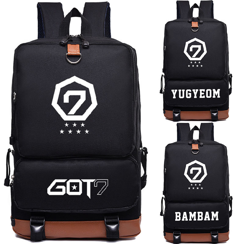 Got7 Team Bambam Backpack Bag Printing Backpack Canvas School Bags Mochila Travel Bags Laptop Backpack Gift Lustrous Luggage & Bags