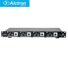 Alctron H4 Skilled high-power Four Channel Headphone Preamplifier, Headphone Amplifier,Professional Line Distribution System